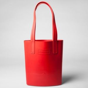 NWT Hunter for Target Rubber Sling Tote Bag - Red.
